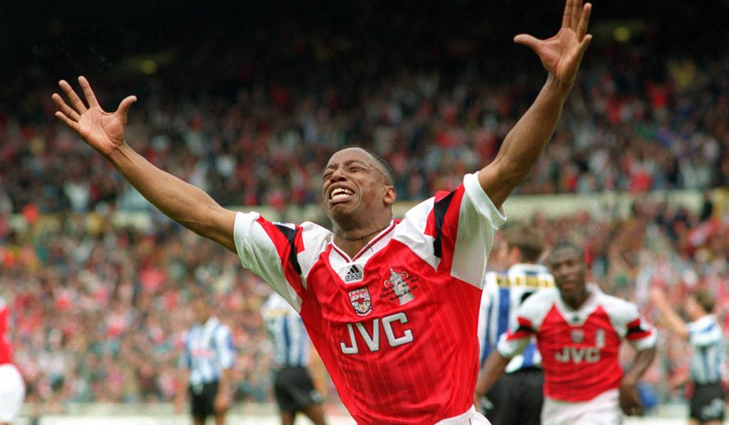 Ian Wright Celebrates Arsenal
